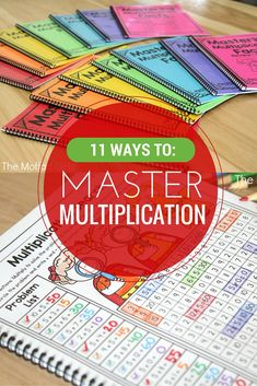 11 Ways to Master Multiplication! Mastering Multiplication facts is such an important skill in elementary. If students can master the basics, all other math concepts are so much easier to learn. Check out these engaging, effective and fun ways to build s Maths Guidés, Math Classroom, Fun Math, Teaching Math, Math Help, Math Resources, Math Activities, Math College, Math Intervention