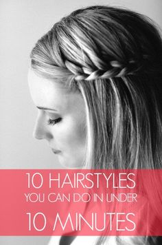 For braids or high pony's with loose pieces - add texturizing spray and/or dry shampoo.  Make high pony or high bun, or braid sides - R loves this way.