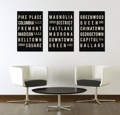 Industrial Subway Sign Seattle Art Poster by GoingUnderground, $98.00