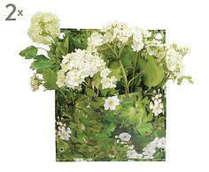Set di 2 portapiante da parete in tela tarpaulin singola Flora - 25x30x1 cm