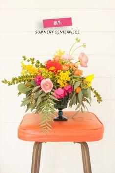 DIY Summer Flower Arrangement | Photography: Lorely Meza - www.lorelymeza.com  Read More: http://www.stylemepretty.com/living/2014/06/26/diy-summer-flower-arrangement/