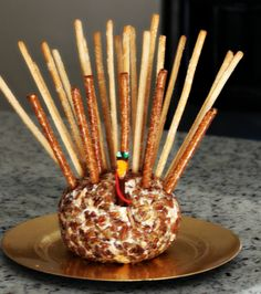 Turkey Cheese Ball. @Jane Lynch Crain, I expect this at your holiday parties next year!