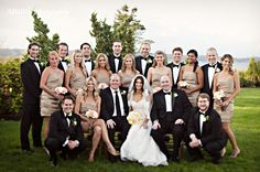 Love this large bridal party - switch best man/maid of honor position