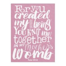 Psalm 139:13 For you created my inmost being Fleece Blanket | Zazzle