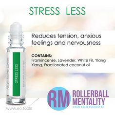 Stress Less Rollerball Mentality Blend great for #tension #stress #nervousness