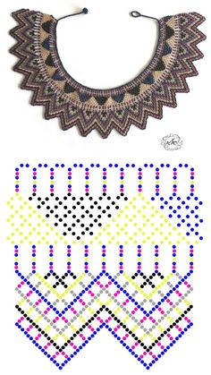 Beaded beads tutorials and patterns, beaded jewelry patterns, wzory bizuterii koralikowej, bizuteria z koralikow - wzory i tutoriale Diy Necklace Patterns, Beaded Bracelet Patterns, Beading Patterns, Beaded Crafts, Jewelry Crafts, Seed Bead Jewelry, Bead Crochet, Beading Tutorials, Loom Beading
