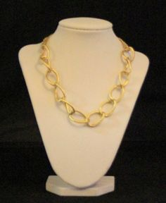 Gold Large Chain Necklace by SunsetJewelsCo on Etsy