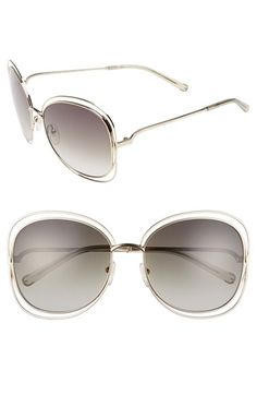 3dd468a16ae Free shipping and returns on Chloé  Carlina  60mm Oversize Sunglasses at  Nordstrom.com