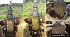 Los #Moai de la Isla de Pascua tienen cuerpos enterrados debajo de la superficie