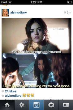 Hahaha lol !!!!! Spencer's funny