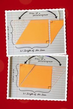 Derive the formula for a parallelogram using only the formula for the area of a rectangle. It should make more sense for the student!
