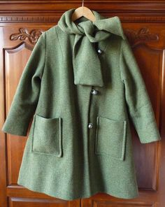mod girl 1960s green tweed swing coat by etiquettegirl on Etsy, 68.00