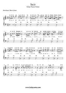 Incir Kolay Piyano Notasi Piyano Notalara Dokulmus Muzik Incir