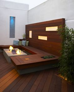 Fantastic way to liven up your outdoor deck.. integrated lighting and an awesome fire pit! Will sell in a flash.