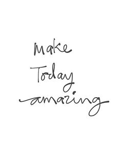 Make today amazing. Good afternoon beautiful people!