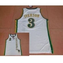 f0e456ee4f1 Mens Bethel High School Allen Iverson Jersey  3 White Stitched NCAA  Basketball Jersey