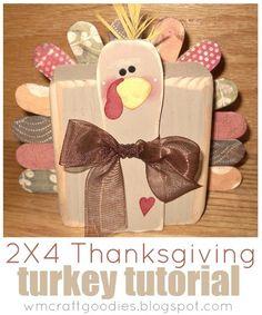 2x4 Thanksgiving Turkey by Craft Goodies