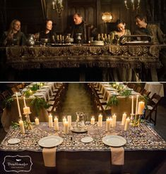 Game of Thrones - The head table was inspired by the tables at the Red Wedding. No worries, no one died at our wedding Castle Fantasy Wedding, Red Wedding, Wedding Table, Wedding Reception, Game Of Thrones Decor, Game Of Thrones Party, Viking Wedding, Medieval Wedding, Gothic Wedding
