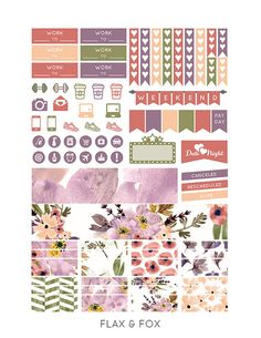 Printable SUMMER FIELD Planner Stickers for the Erin Condren Life Planner…