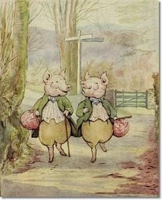Beatrix Potter - The Tale of Pigling Bland - Alexander and Pigling Bland at the Cross-roads