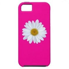 #SOLD on #Zazzle - Girly White Gerber Daisy on Hot Pink iPhone 5 Case