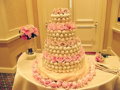 Cake ball wedding cake with some how-to tips :-)