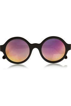 Illesteva|Frieda round-frame mirrored acetate sunglasses|NET-A-PORTER.COM