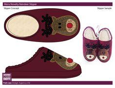 PRODUCT MOCK-UP EXAMPLES - HOLIDAY  SLIPPER
