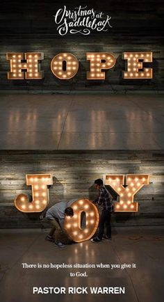 Hope, Love, Joy and Peace -Christmas at Saddleback Church 2013