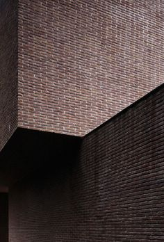 I love the solididty of brickwork. Exterior wall of the VDV house by Vincent van Duysen.