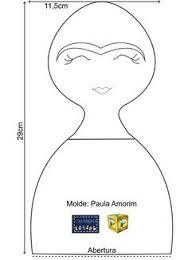Resultado de imagem para molde da boneca frida kahlo
