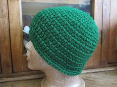 4cbbcd4cb53 New Hand Crocheted Paddy Green Hat Beanie Cap Skull Cap in Acrylic Yarn