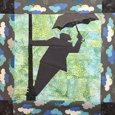 """Fandom In Stitches: Broadway Series: Singing in the Rain by Katie Olson.  10"""" Paper Pieced.  Free from fandominstitches.com.  Free for personal and non-profit use only"""