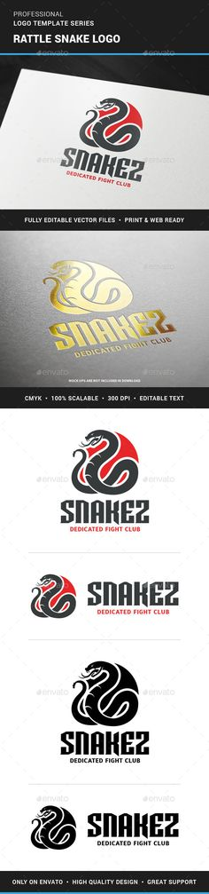 Rattle Snake Logo Template — Vector EPS #clan #red • Available here → https://graphicriver.net/item/rattle-snake-logo-template/12089140?ref=pxcr