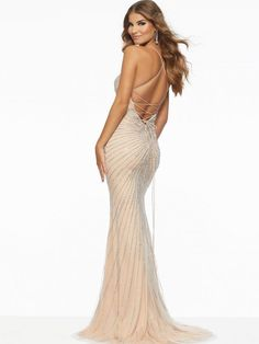Mori Lee - 43001 Crystal Beaded Deep V-neck Trumpet Dress – Couture Candy Mori Lee Dresses, Straps Prom Dresses, Trumpet Dress, Sophisticated Dress, Perfect Prom Dress, Prom Dresses Online, Two Piece Dress, Spring Dresses, Latest Fashion Clothes