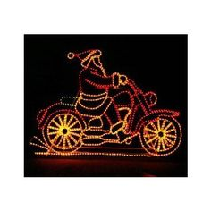 Santa on Motorcycle with Controller