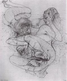 foxesinbreeches:    Illustration byHans BellmerfromL'Anatomie de l'Image(Anatomy of the Image)