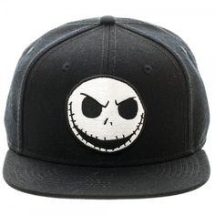 074e921efcb Nightmare Before Christmas Jack Emb Patch Snapback Flatbrim Baseball Cap Hat