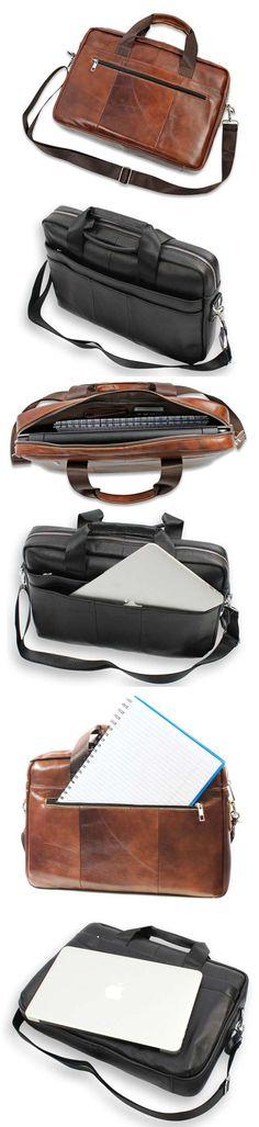 laptopbag laptoptas real leather echt leer laptop macbook notebook black zwart brown bruin shop now at safekeepers