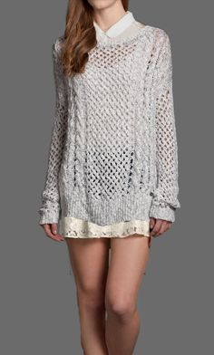 Pair Women's Skyler Shirt with the Grey Skyler Sweater over a Kali Shine Lace Skater Skirt for a warm and flirtatious look.
