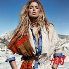 Navajo print scarves, denim tops and chunky sweaters the perfect après ski outfit from H&M levels 1&2.