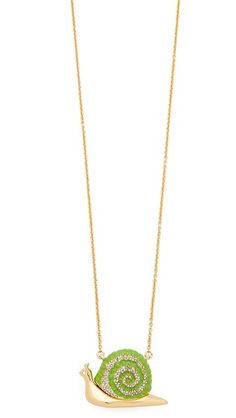 Kate Spade New York Lawn Party Snail Pendant Necklace