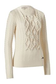 Burberry Pullover Owoca Natural White Cable Knit - Luxurious knit sweater in a fine natural-colored wool and cashmere blend, Slim cut and slightly fitted    Looks elegant – Made of 90% Wool & 10% Cashmere