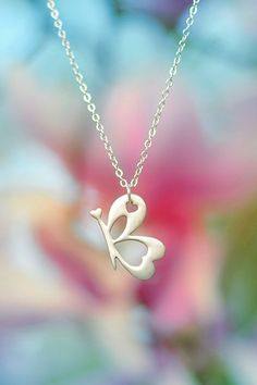 """This butterfly necklace is composed of the words """"I AM"""" and serves as a visual cue or reminder of the characteristics you want to bring out in yourself. I found this on www.believeiam.com  $85.00"""