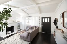 "Ashley Is ""Home At Last"" in Silver Lake / love the sofa, very similar to mine"