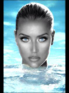 #piercing #blue