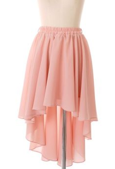 I love this style of skirt. Short in the front, long in the back. I need to find one of these.
