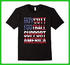 Mens Boycott Football Support America T Shirt Large Black - Sports shirts (*Amazon Partner-Link)