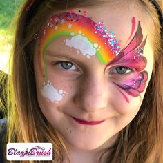 Eye Face Painting, Face Art, Body Painting, Easy Face Painting Designs, Rainbow Face Paint, Animal Face Paintings, Butterfly Face Paint, Kids Makeup, Face And Body