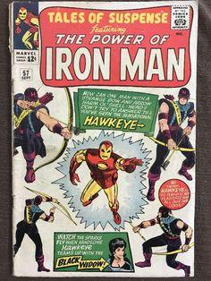 Tales of Suspense #57 MARVEL 1964 - Iron Man - 1st App & ORIGIN of Hawkeye!!!
